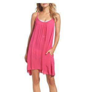 Elan Fuchsia Swim Slip Dress Swim Cover Up XS Pink